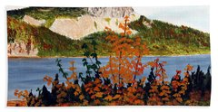 Beach Sheet featuring the painting Autumn Sunset On The Hills by Barbara Griffin