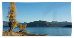 Beach Towel featuring the photograph Autumn Trees At Lake Wanaka by Stuart Litoff