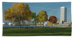Beach Sheet featuring the photograph Autumn Trees by Jonah  Anderson