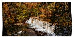 Autumn Trees On Duck River Beach Sheet