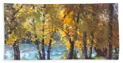 Autumn Walk Beach Towel