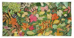 Autumnal Cat Beach Towel