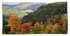 Autumnal Colours In Austria Beach Towel