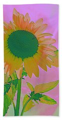 Autumn's Sunflower Pop Art Beach Sheet