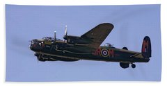 Avro 638 Lancaster At The Royal International Air Tattoo Beach Towel by Paul Fearn