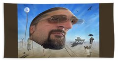 Awake . . A Sad Existence Beach Towel by Mike McGlothlen