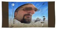 Awake . . A Sad Existence Beach Sheet by Mike McGlothlen