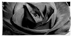 Awakened Black Rose Beach Towel