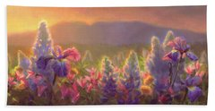 Awakening - Mt Susitna Spring - Sleeping Lady Beach Towel