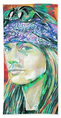Axl Rose Portrait.2 Beach Towel