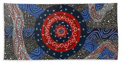 Ayahuasca Eclipse Beach Towel