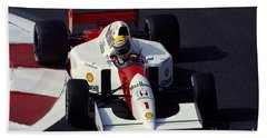 Ayrton Senna. 1992 French Grand Prix Beach Towel