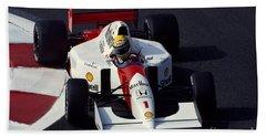 Ayrton Senna. 1992 French Grand Prix Beach Sheet