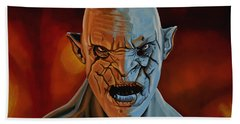 Azog The Orc Painting Beach Towel