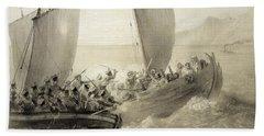 Azov Cossacks Boarding A Turkish Corsair Beach Towel