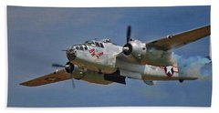 B-25 Take-off Time 3748 Beach Towel