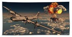 B-29 Superfortress Flying Away Beach Towel