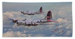 B17- 381st Bomb Group En-route Beach Towel