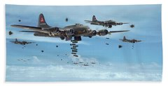 B17 - Mighty 8th Arrives Beach Towel