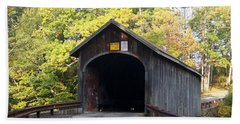Babbs Covered Bridge Beach Towel by Catherine Gagne