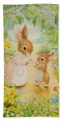 Baby Bunny Beach Sheet