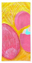 Beach Towel featuring the painting Baby Egg by Lorna Maza