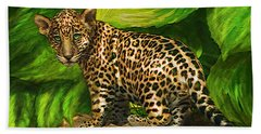 Baby Jaguar Beach Sheet by Jane Schnetlage