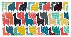 Baby Llamas Beach Sheet by Sharon Turner