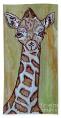 Baby Longneck Giraffe Beach Sheet