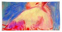 Baby Stork Beach Towel