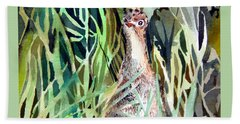 Baby Wild Turkey Beach Towel by Mindy Newman
