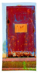 Beach Towel featuring the photograph Back Door by Christiane Hellner-OBrien
