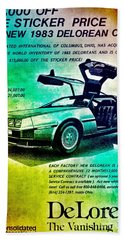 Back To The Delorean Beach Towel