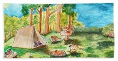 Back Yard Camp Beach Sheet