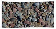 Beach Towel featuring the photograph Background Of Wet Pebbles And Sand by Kennerth and Birgitta Kullman