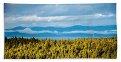 Backroad Ocean View Beach Towel