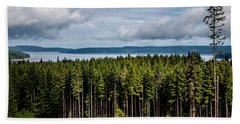 Logging Road Landscape Beach Towel