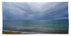 Beach Towel featuring the photograph Bad Weather Approaching At The Coast by Kennerth and Birgitta Kullman