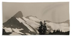 Fog In Mountains Beach Towel