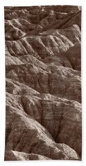 Badlands Light Bw Beach Towel