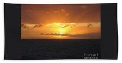 Bahamas Ocean Sunset Beach Sheet by John Telfer