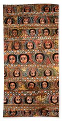 Bahar Bahir Dar Ethiopia Bright Colour Painted Church Ceiling Beach Towel