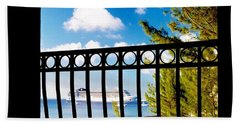 Beach Towel featuring the photograph Balcony Scene by Amar Sheow