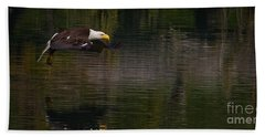 Beach Sheet featuring the photograph Bald Eagle #1307 by J L Woody Wooden