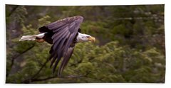 Beach Towel featuring the photograph Bald Eagle   #6865 by J L Woody Wooden