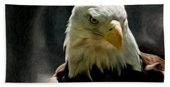 Bald Eagle Giving You That Eye Beach Towel