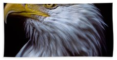 Beach Towel featuring the photograph Bald Eagle by Jeff Goulden