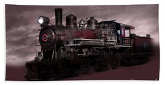 Baldwin 4-6-0 Steam Locomotive Beach Towel