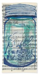 Beach Towel featuring the painting Ball Jar Classical  #132 by Ecinja Art Works