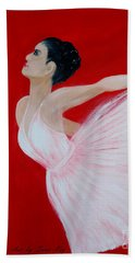 Ballerina.  Grace. Inspirations Collection Beach Towel by Oksana Semenchenko